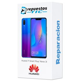 Reparacion/ cambio Pantalla original con marco y bateria Huawei P Smart Plus/ Nova 3i Purpura