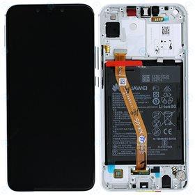 Pantalla original con marco y bateria Huawei P Smart Plus/ Nova 3i Blanco