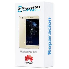 Reparacion/ cambio Pantalla original con marco y bateria Huawei P10 Lite Oro