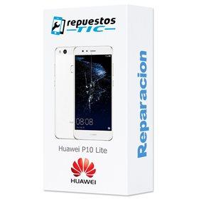 Reparacion/ cambio Pantalla original con marco y bateria Huawei P10 Lite Blanco