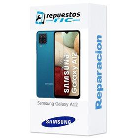 Reparacion/ cambio Pantalla completa original con marco Samsung Galaxy A12 A125F Negro