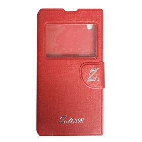 Funda protectora tipo libro Sony Xperia Z1 L39H Rojo logo Z
