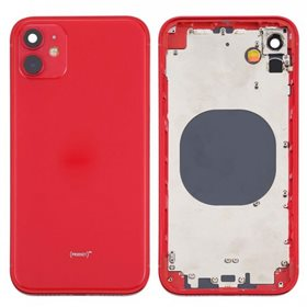 Chasis iPhone 12 Rojo carcasa + tapa bateria