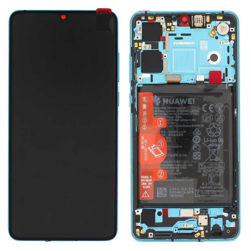 Pantalla original con marco y bateria Huawei P30 New Edition Aurora