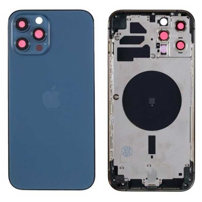 Chasis iPhone 12 Pro Max azul (sin componentes)