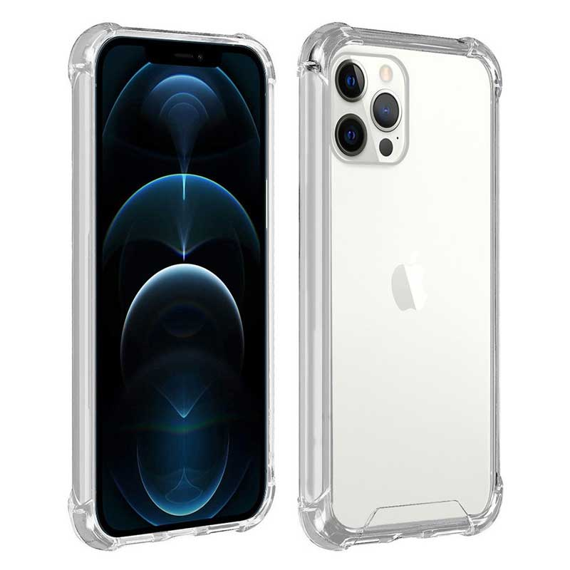 Funda protectora silicona iPhone 13 Pro Max (transparente)