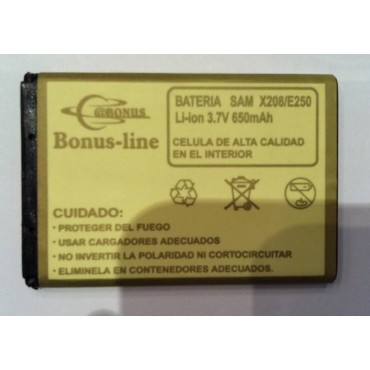 SAMSUNG E250 ,E500.C130, E210, X150 650M/AH LI-ION DE LARGA DURACION