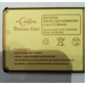 Sony Ericsson BST-33 K550, K530i, K800, P1, 800m/Ah LI-ION DE LARGA DURACION