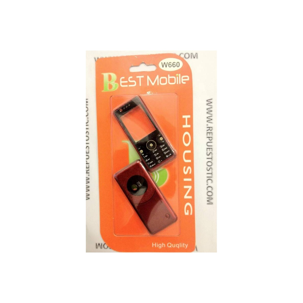 Carcasa Sony Ericsson W660 Roja