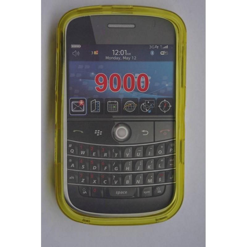 funda de silicona amarilla para la blackberry 9000
