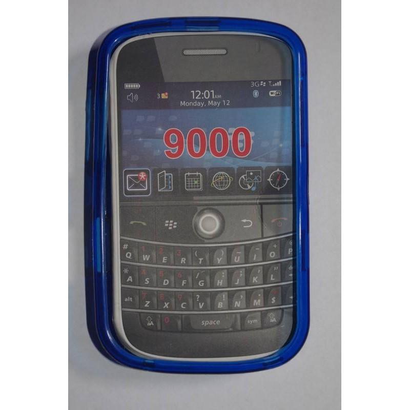 funda de silicona para blackberry 9000 azul