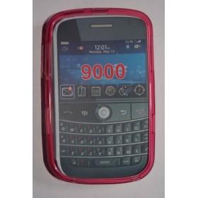 funda de silicona para blackberry 9000 Rosa
