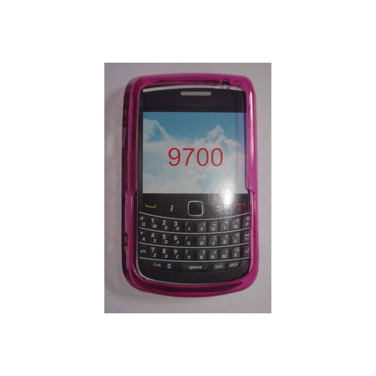 funda de silicona para blackberry 9700 Rosa