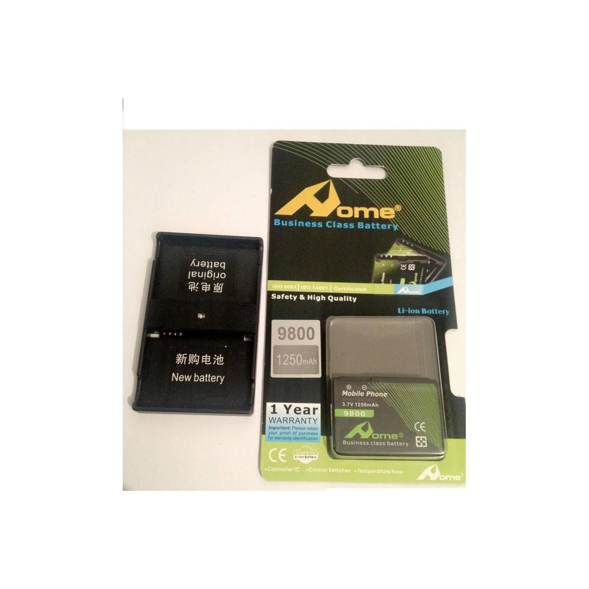 Bateria para BlackBerry Torch 9800, Curve 8910 + adaptador