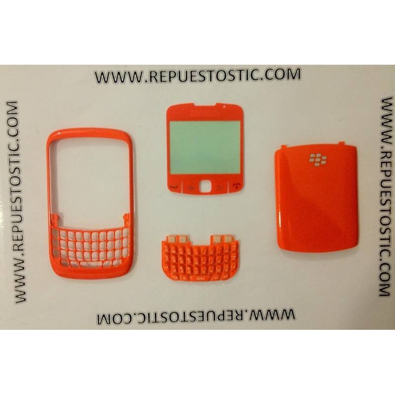Carcaça BlackBerry 8520 Naranja