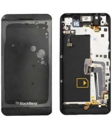 pantalla COMPLETA con marco negro para BLACKBERRY Z10 GSM