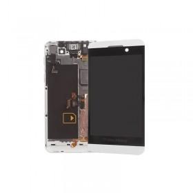 Pantalla completa con marco Blackberry Z10 blanca