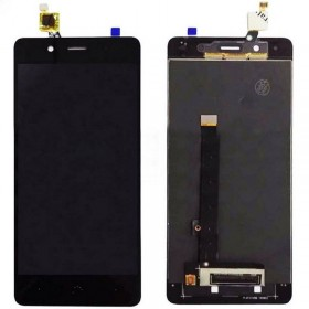 Ecrã completa (LCD + táctil) preta para BQ Aquaris X5 Plus
