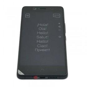 Pantalla completa con marco ORIGINAL (LCD/display + digitalizador/táctil+Marco) para BQ Aquaris X5 Plus-Negra Gris