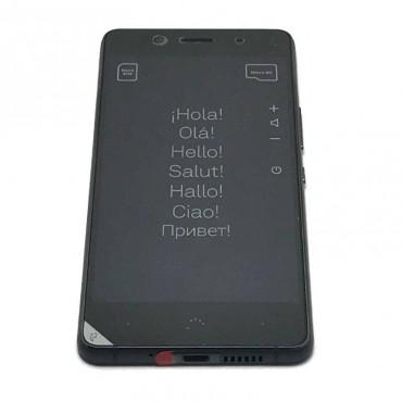 Pantalla completa con marco ORIGINAL (LCD/display + digitalizador/tactil+Marco) para BQ Aquaris X5 Plus-Negra Gris