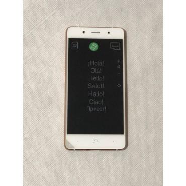Pantalla completa con marco ORIGINAL (LCD/display + digitalizador/tactil+Marco) para BQ Aquaris X5 Plus-Blanca