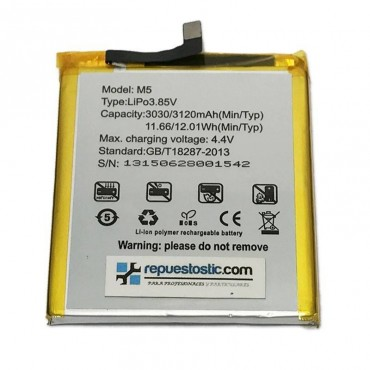 Batería de 3120 mAh para Bq M5
