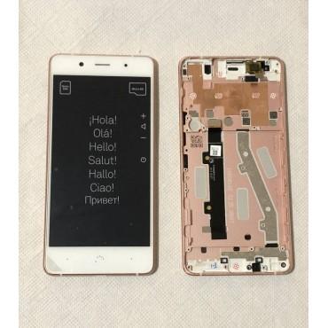 Pantalla completa con marco ORIGINAL (LCD/display + digitalizador/táctil+Marco) para BQ Aquaris X5 Plus-Blanca