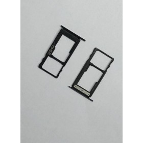Bandeja de tarjetas SIM_SD negra para BQ Aquaris V ORIGINAL