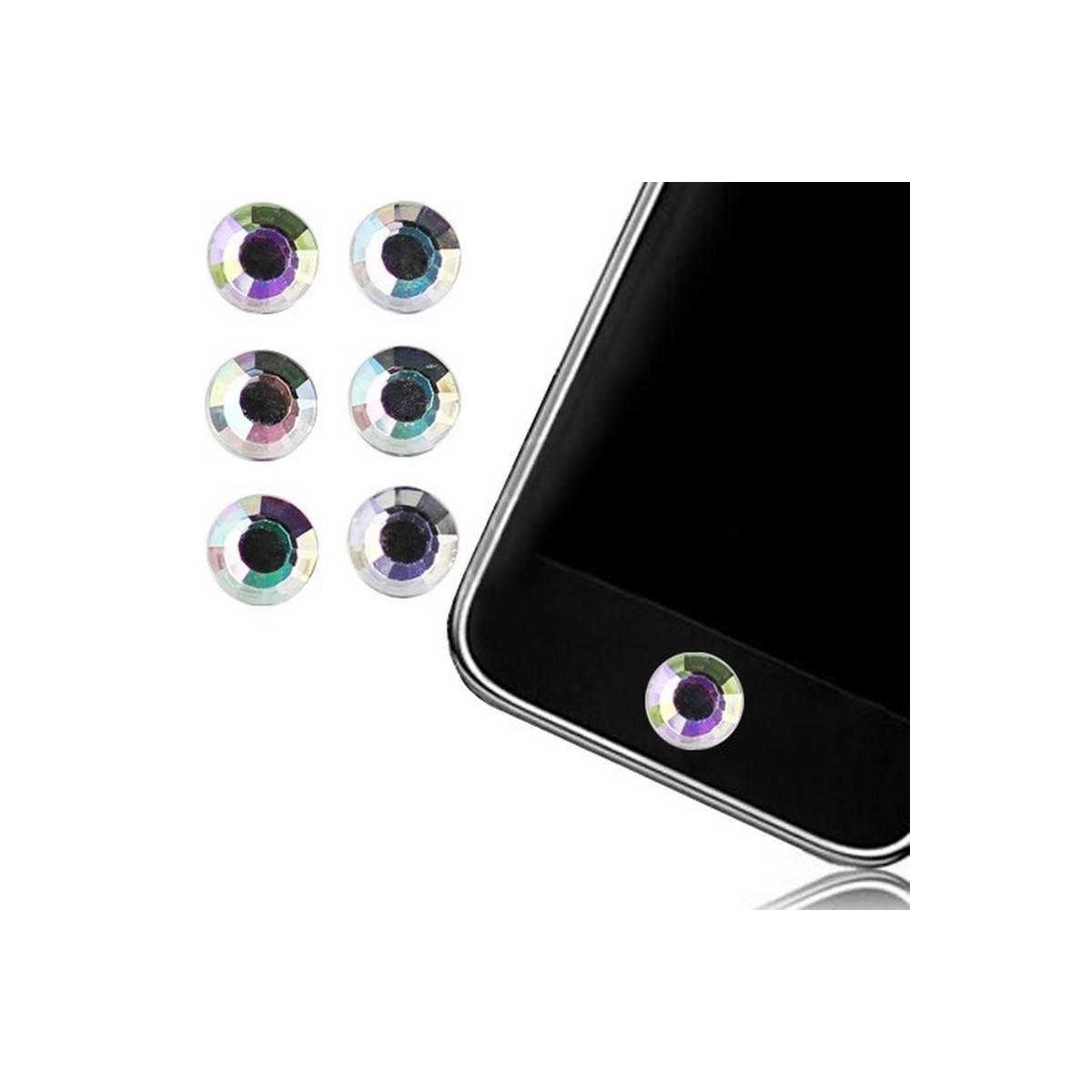 STICK PEGATINA de Boton Home iPHONE Transparente
