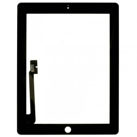 pantalla tactil con boton home iPad 4 negra