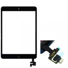 Tactil ipad mini / ipad mini 2 preto com conetor ic