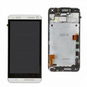 Ecrã completa com marco HTC ONE M7 gris