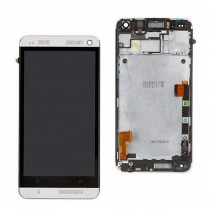 Pantalla completa HTC ONE M7 gris