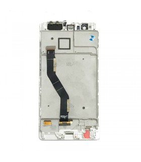 Pantalla completa con marco para Huawei P9 Plus blanca