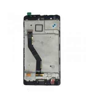 Pantalla completa con marco para Huawei P9 Plus negra