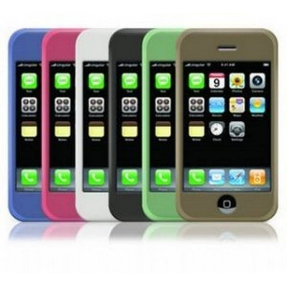 iPhone 3G, 3Gs funda de silicona/goma antideslizante y anti golpes