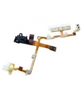 iPhone 3G/3gs flex de encendido con conector de auriculares blanco