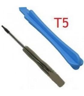 Destornillador T5 y plastico de apertura