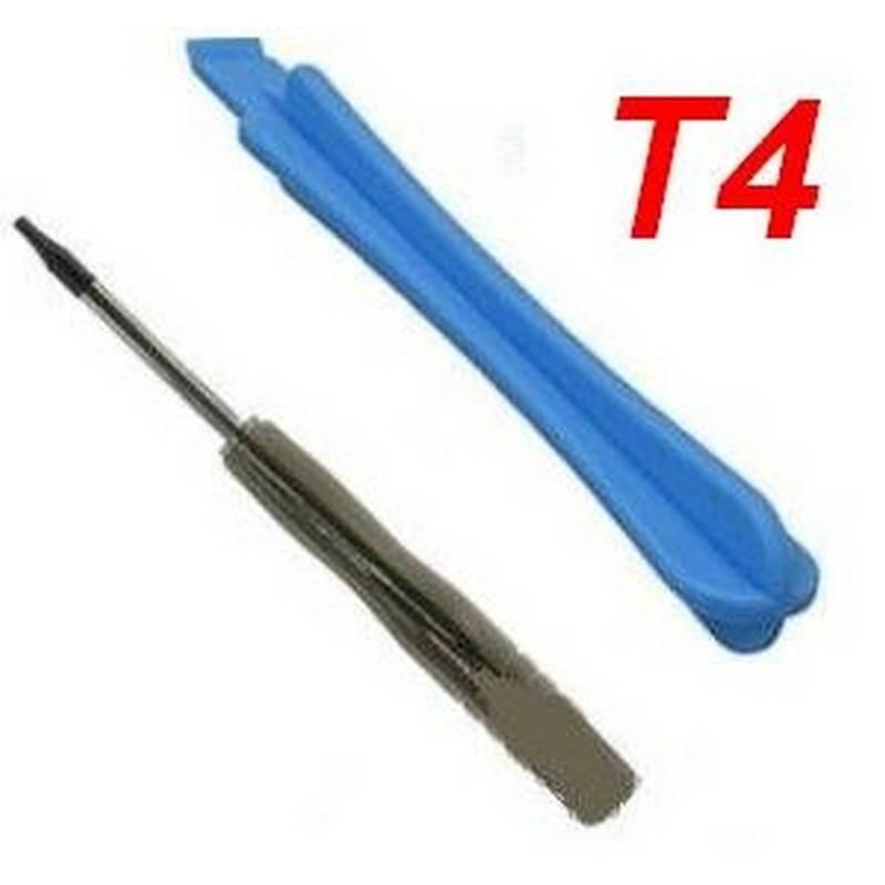 Chave de fenda T4 e plastico de apertura