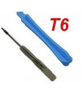 Destornillador T6 y plastico de apertura