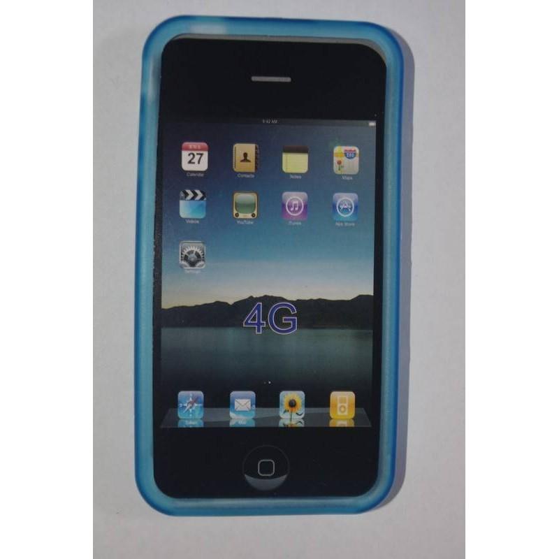 Funda de silicona iphone 4g, Azul claro
