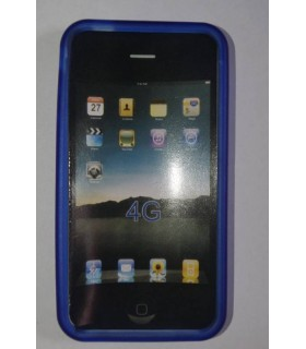 Funda de silicona iphone 4g azul