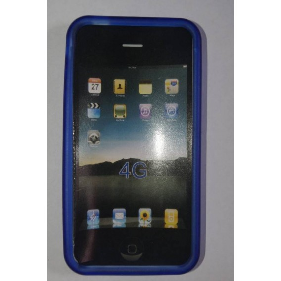 Funda de silicona iphone 4g azul