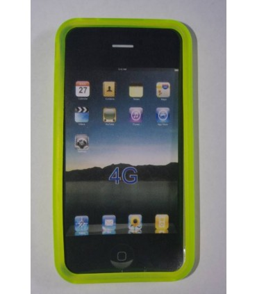 funda silicona iphone 4 amarillo