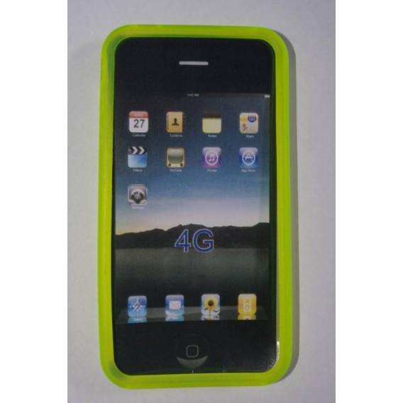 funda silicona iphone 4 amarillo