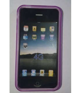 Funda de silicona iphone 4g 4G, color Lila
