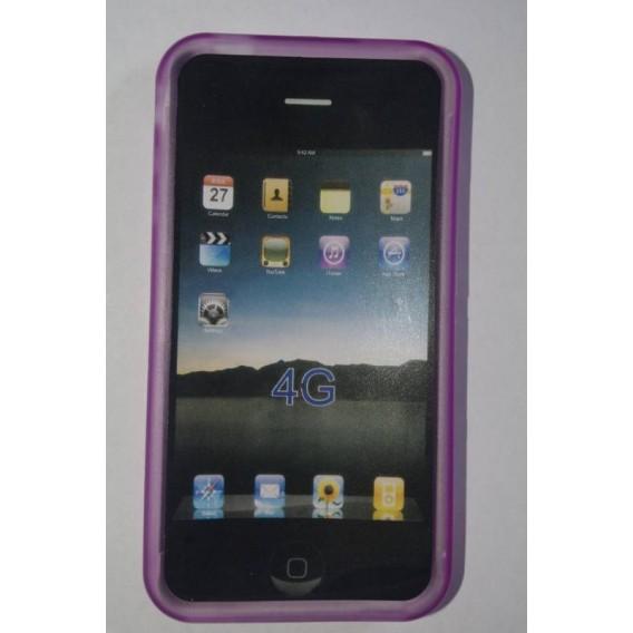 Funda de silicona iphone 4g 4G, cor Lila