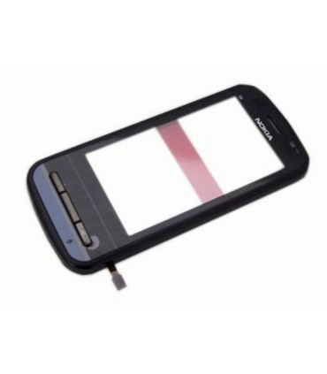 Nokia C6-00 carcasa frontal negra + pantalla digitalizadora, ORIGINAL
