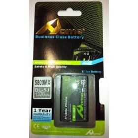 Nokia 5800 bateria BL-5J 1320 M/AH DE LARGA DURACIÒN