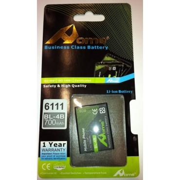bateria para Nokia BL-4B 2630, 2660, 2760, 5000, 6111. 700M/AH de larga duracion